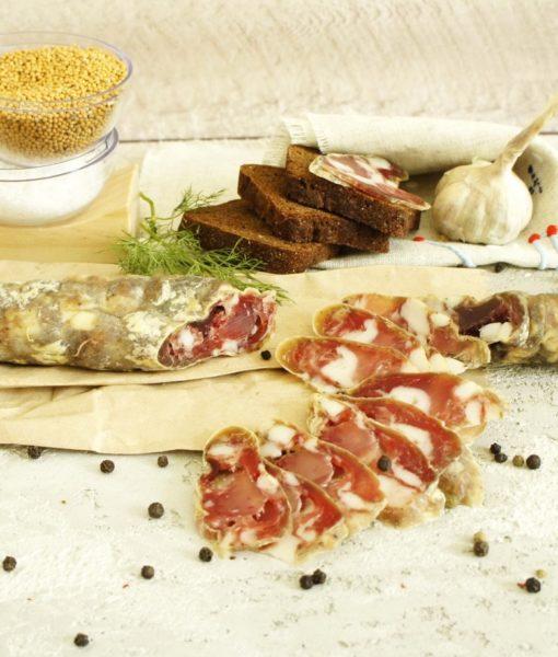 Ковбаса сиров'ялена пальцьопхана, традиційна